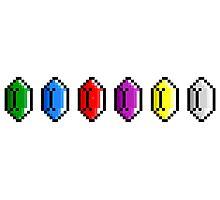 Zelda - Rupees Pixel Art Photographic Print