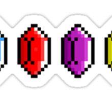 Zelda - Rupees Pixel Art Sticker