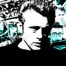 James Dean Collage  by Cameron Jones