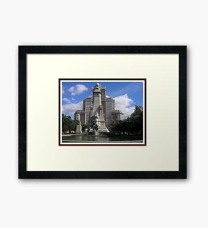 Plaza España...... Framed Print