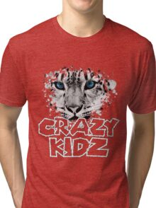 Leopard - Crazy Kids Tri-blend T-Shirt