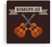 Django Gypsy Jazz Canvas Print