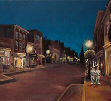 Annapolis at Night: Main Street by kristincronic