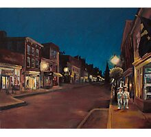 Annapolis at Night: Main Street Photographic Print