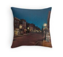 Annapolis at Night: Main Street Throw Pillow