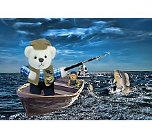 <º))))>< GOOD THINGS COME TO THOSE WHO BAIT-BEARS FISHING VACATION <º))))><  Photographic Print