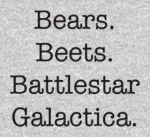 Bears. Beets. Battlestar Galactica. One Piece - Long Sleeve