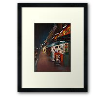 Annapolis at Night: Chick and Ruths Framed Print