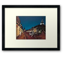 Annapolis at Night: Mangia's Framed Print