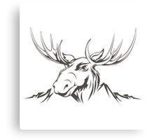 Moose head Canvas Print