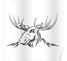 Moose head Poster