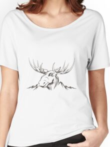Moose head Women's Relaxed Fit T-Shirt