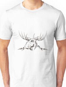 Moose head Unisex T-Shirt
