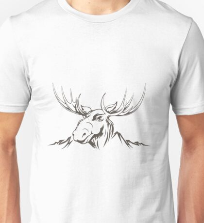 Moose head Unisex T-Shirt