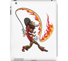 chili pepper with a lash of fire iPad Case/Skin