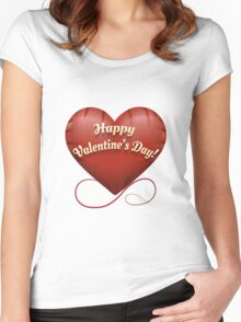 The toy Happy Valentine's Day heart Women's Fitted Scoop T-Shirt