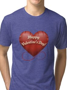 The toy Happy Valentine's Day heart Tri-blend T-Shirt