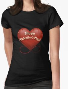 The toy Happy Valentine's Day heart Womens Fitted T-Shirt