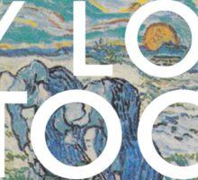 landslide (van gogh) Sticker