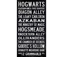 Harry Potter Tram Scroll Photographic Print