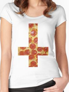 Pizza Cross - Inverted Women's Fitted Scoop T-Shirt