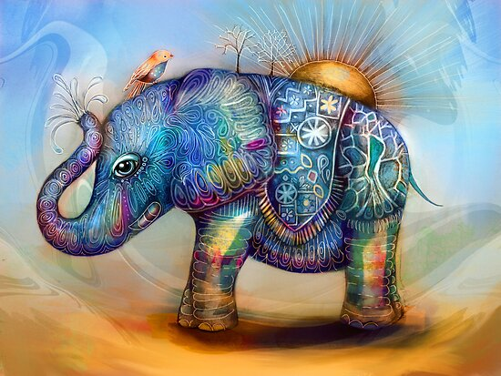 magic rainbow elephant by © Karin  Taylor