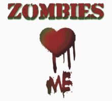 Zombies love Me One Piece - Short Sleeve