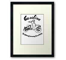 Gasoline Scooter Framed Print