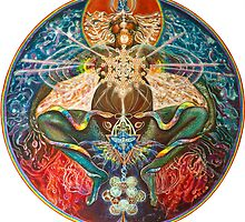Cosmic Mother Birthing Rainbow Body by Melissa Shemanna