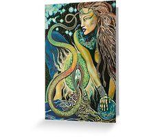 Rainbow Serpent Kundalini priestess Greeting Card