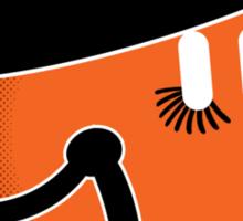An Orange Clockwork Sticker