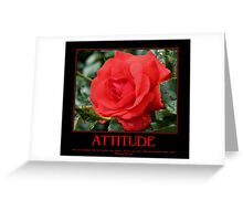 Attitude Quote Red Rose Greeting Card