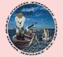 ☀ ツ GOOD THINGS COME TO THOSE WHO BAIT TEDDY BEARS FISHING TEE SHIRT☀ ツ One Piece - Short Sleeve