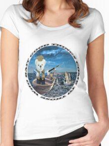 ☀ ツ GOOD THINGS COME TO THOSE WHO BAIT TEDDY BEARS FISHING TEE SHIRT☀ ツ Women's Fitted Scoop T-Shirt