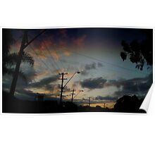 sunsets in the suburbs Poster