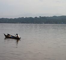 Morning Activity of A Borneo Fisherman by PutroGraph