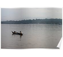 Morning Activity of A Borneo Fisherman Poster