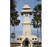 Borneo Kutai Kartanegara Bentong Clock Tower Photographic Print