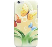 sprouts and butterflies iPhone Case/Skin