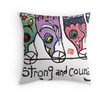 Koinobori: Be Strong and Courageous (v.2) Throw Pillow