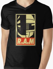 Obey R.A.M  Mens V-Neck T-Shirt