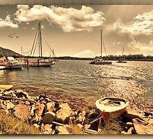 BOATS AT REST by john NORRIS