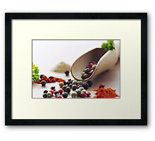 Fresh Pepper and Spices Framed Print