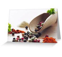 Fresh Pepper and Spices Greeting Card