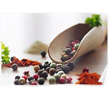 Fresh Pepper and Spices Poster