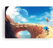 Sonic the Hedgehog Fan Art - Boom Sonic & Tails Canvas Print
