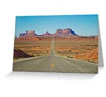 Highway 163 Greeting Card