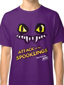 Attack of the Spooklings - B Movie Poster - Purple Classic T-Shirt