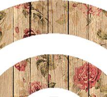 Floral Wood Wifi Sticker