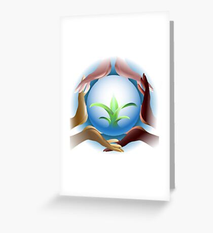 Ecological concept Greeting Card